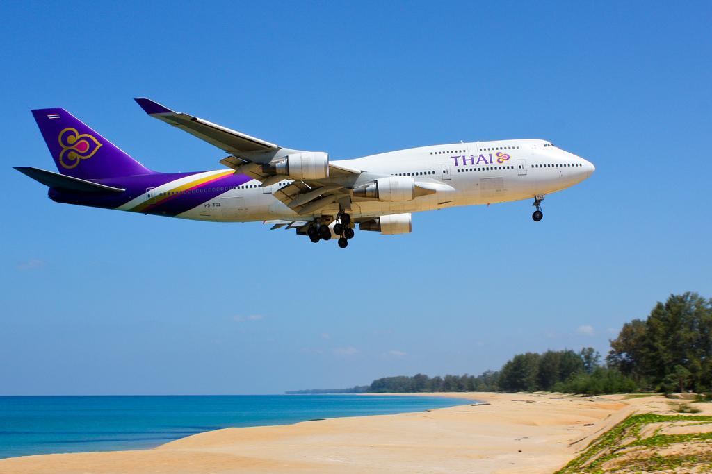 Thai airways portade nötallergisk familj.